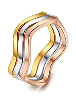 Women's Band Rings Vintage Fashion Elegant Rose Gold Line Irregular Jewelry For Daily Christmas