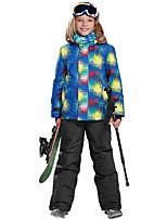 Phibee Da ragazzo Giacca da sci Caldo Tenere al caldo Antivento Zip impermeabile Indossabile resistente all'acqua Resistente ai raggi UV