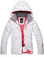 Per donna Giacca da sci Caldo Ompermeabile Tenere al caldo Antivento Cappuccio rimovibile Sci Sci Poliestere