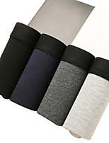 cheap -Men's Solid Boxers Underwear