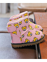 cheap -Girls' Shoes Leatherette Fall Winter Comfort Snow Boots Boots For Casual Pink Black