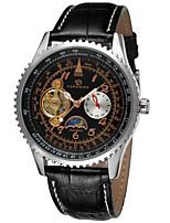 abordables -FORSINING Hombre Reloj de Moda Reloj de Pulsera Reloj Casual Cuerda Automática Piel Banda Casual Cool