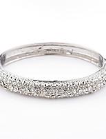 Femme Manchettes Bracelets Strass Mode Cristal Alliage Forme Géométrique Bijoux Pour Quotidien Décontracté