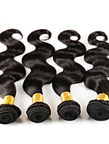 cheap -Remy Brazilian Natural Color Hair Weaves Active Body Wave Hair Extensions 4pcs Black
