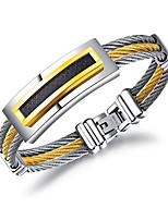 Недорогие -Муж. Браслеты-цепочки и звенья На каждый день Cool Титан Сталь Геометрической формы Бижутерия Назначение Повседневные Официальные