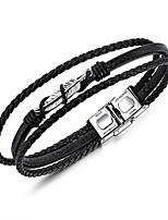 cheap -Men's Wrap Bracelet Casual Cool Leather Geometric Jewelry For Daily Formal