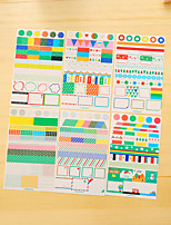 6 pcs / set pvc diary sticker etiqueta do telefone etiquetas scrapbook