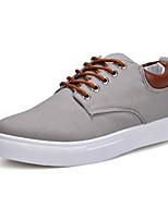 preiswerte -Herren Schuhe Leinwand Frühling Herbst Komfort Tauchschuhe Sneakers Seiten-drapiert Für Normal Schwarz Grau Rot Blau Khaki