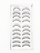cheap -1 Eyelashes lash Full Strip Lashes Eyelash Natural Long Natural Machine Made Fiber Black Band 0.10mm