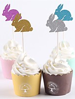 cheap -Cake Topper Beach Theme Classic Theme Baby Shower New Baby Family Birthday Rustic Theme Animals Paper Wedding Party  12 OPP