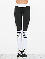 Femme Collants de Course Yoga Fitness Collants Yoga Pilates Exercice & Fitness Elasthanne Mince S M L