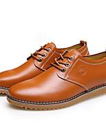 Masculino sapatos Pele Primavera Outono Conforto Oxfords Para Casual Preto Amarelo Marron