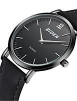 Недорогие -Муж. Модные часы Наручные часы Японский Кварцевый Повседневные часы Кожа Группа На каждый день Elegant Черный Коричневый