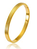 cheap -Men's Women's Bangles Metallic Basic Gold Plated Circle Jewelry For Wedding Gift