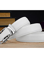 cheap -Unisex Alloy Waist Belt,White Casual Contemporary Buckle