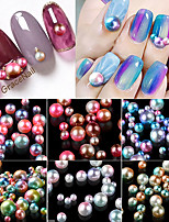 Manucure Dé oration strass Perles Maquillage cosmétique Nail Art Design