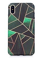 Недорогие -Кейс для Назначение Apple iPhone X iPhone 8 Сияние в темноте С узором Рельефный Кейс на заднюю панель Геометрический рисунок Твердый ПК