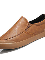 Men's Shoes PU Spring Fall Comfort Loafers & Slip-Ons For Outdoor Brown Gray Black