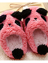 cheap -Girls' Shoes Fleece Fall Winter Comfort Slippers & Flip-Flops For Casual Khaki Pink Red Coffee