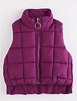 cheap -Girls' Solid Vest,Cotton Purple