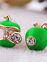 Women's Stud Earrings Rhinestone Lovely Fashion Alloy Jewelry For Casual Christmas