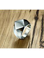 le groupe des hommes bagues bijoux géométriques en acier de titane personnalisés vintage pour la fête de mariage