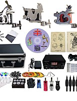 Professional Tattoo Kit 3 steel machine liner & shader 3 Silver Tattoo Machine Inks Not Included