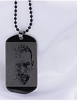Men's Pendant Necklaces Stainless Steel Hip-Hop Personalized Jewelry For Daily Casual