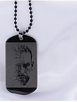 мужские подвесные ожерелья из нержавеющей стали hip-hop персонализированные украшения для повседневных повседневных