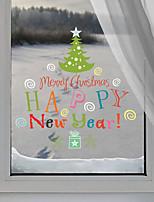 Noël Stickers muraux Autocollants avion Autocollants muraux décoratifs,Vinyle Matériel Décoration d'intérieur Calque Mural