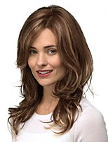 cheap -Women Synthetic Wig Lace Front Short Wavy Brown/White Highlighted/Balayage Hair Layered Haircut With Baby Hair Party Wig Cosplay Wig