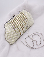 Women Bags All Seasons ABS+PC Evening Bag Beading Pearl Detailing Pockets for Sports & Outdoor Event/Party Beige