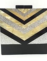 Damen Taschen Alle Jahreszeiten Polyester Unterarmtasche Acryl für Veranstaltung / Fest Silber