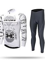 Calça com Camisa para Ciclismo Homens Manga Longa Moto Conjuntos de Roupas Secagem Rápida A Prova de Vento Esportes de Inverno retenção