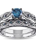 Жен. Классические кольца Синтетический аквамарин Стразы Стразы Бижутерия Назначение Свадьба Для вечеринок