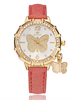 cheap -Women's Fashion Watch Chinese Quartz PU Band Casual Butterfly Black White Blue Red Gold Purple Rose Sky Blue