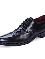 Для мужчин обувь Искусственное волокно Весна Осень Удобная обувь Туфли на шнуровке Назначение Повседневные Черный Серый Красный