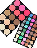 cheap -55 Eyeshadow Palette Dry Matte Shimmer Eyeshadow palette Powder Daily Makeup Halloween Makeup Party Makeup Fairy Makeup Cateye Makeup