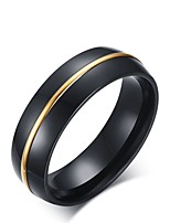 Men's Vintage Elegant Titanium Steel Gold Plated Circle Jewelry For Wedding Evening Party