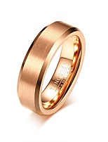 cheap -Men's Band Rings Classic Elegant Rose Gold Steel Circle Jewelry For Wedding Party Engagement Daily