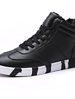 cheap -Men's Shoes Synthetic Microfiber PU PU Fall Winter Comfort Sneakers For Casual Red Black White