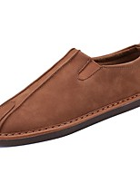Men's Shoes PU All Season Moccasin Comfort Loafers & Slip-Ons For Casual Brown Gray