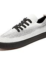 Недорогие -Для мужчин обувь Полотно Весна Осень Удобная обувь Кеды Назначение Повседневные Белый Черный Красный