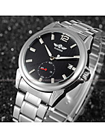 WINNER Men's Dress Watch Wrist watch Mechanical Watch Automatic self-winding Calendar / date / day Stainless Steel Band Luxury Casual