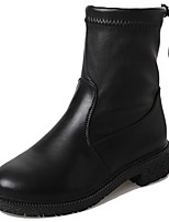 cheap -Women's Shoes Nubuck leather Winter Comfort Fashion Boots Boots Round Toe Mid-Calf Boots For Casual Outdoor Green Black