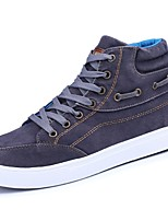 cheap -Men's Shoes PU Denim Fabric Spring Fall Comfort Sneakers For Casual Blue Gray Black