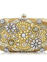 Women Bags All Season Polyester Evening Bag Beading Pearl Detailing Sequins for Event/Party Gold Silver