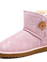 abordables -Mujer Zapatos Ante Invierno Botas de nieve Forro de pelusa Botas Esquí Botines/Hasta el Tobillo Mitad de Gemelo Para Casual Negro Gris