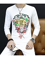 cheap -Men's Petite Daily Casual Activewear Set Print Round Neck Micro-elastic Eco-friendly Polyester Long Sleeves Fall