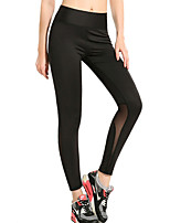 Women's Medium Stitching Solid Color Print Legging,Geometric